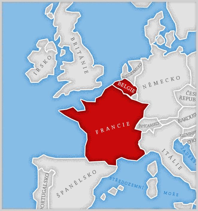 Francie, Belgie