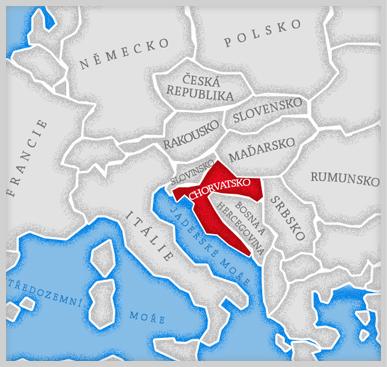 Mapa Chorvatsko