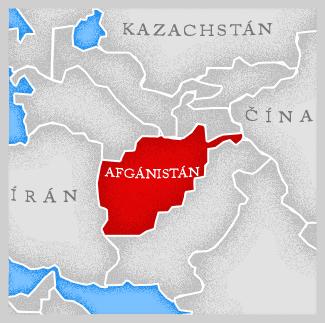 Mapa Afgánistánu