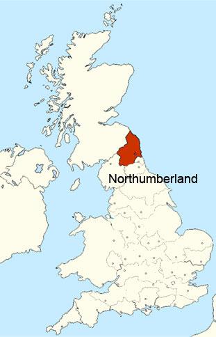 území Northumberland