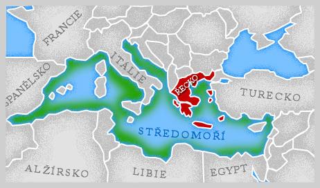 Mapa Středomoří