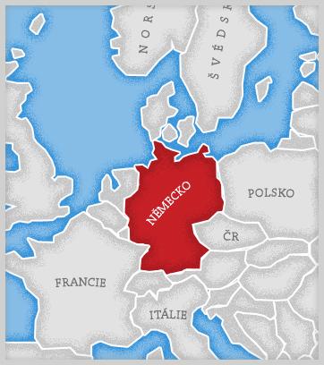Mapa Německo