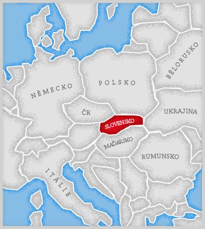 Mapa Slovensko